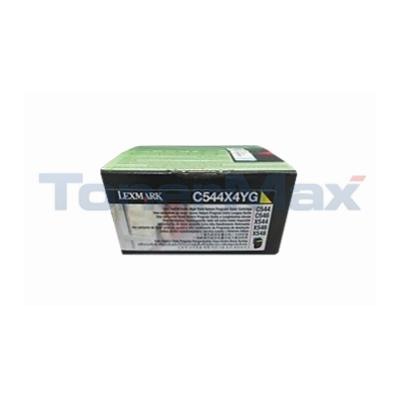 LEXMARK C544 TONER CART YELLOW XHY RP TAA